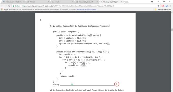 Java kann mir eine diese Schleife erklären -for?