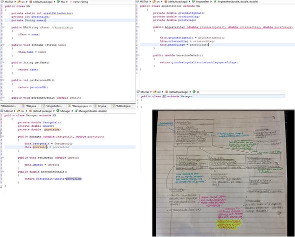 (die UML-Notation ist in 2 Sprachen, es tut mir leid :( ) - (Informatik, Java, Programmierung)