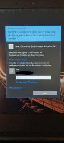 Java verlangt seit neustem Adminrechte und funktioniert nicht mehr?