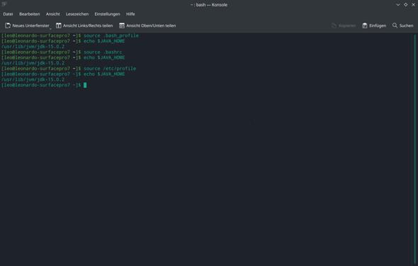 Java wird bei Gradle v16 angezeigt, ist aber überall v15?