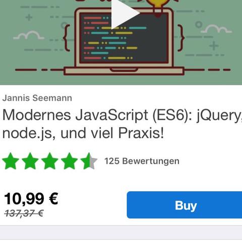 JavaScript Kurs bei Udemy - (programmieren, Website, Ausbildung und Studium)