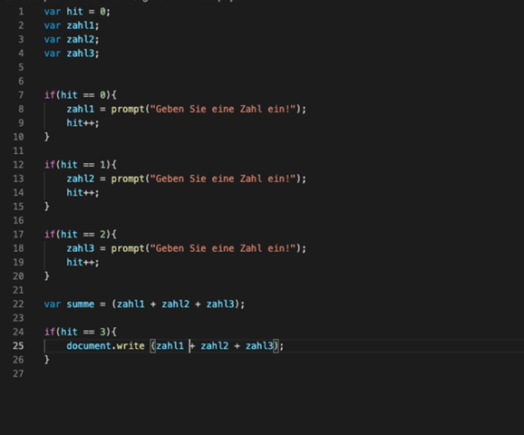 Javascript summe berechnene?