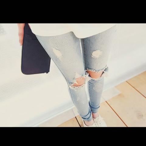Jeans mit Löchern  - (Shop, Hose kaufen)