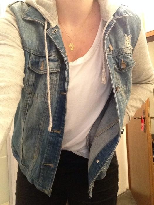 new product 0477f f251c Jeansjacke mit grauer kapuze damen – Stilvolle Jacken