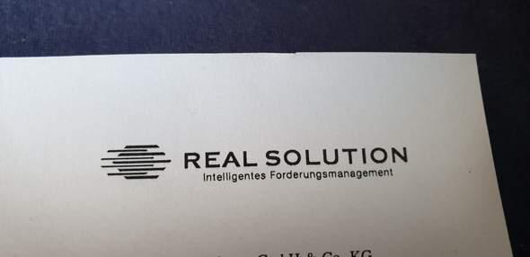 Jemand erfahrung mit Real Solution (Inkasso)? (Vodafone