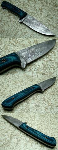 Auf Ebay nur als Damast messer Jagdmesser betitelt  - (Messer, damast)