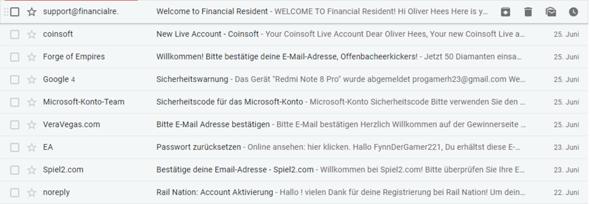 Jemand registriert sich mit meiner Email, gefährlich?