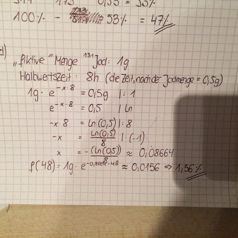 Jodmenge im Körper bestimmen.Ich muss die Jodmenge in Prozent nach ...