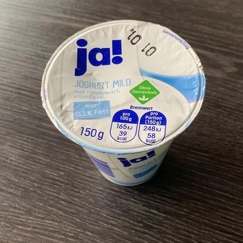 Joghurt ohne Zutatenliste?