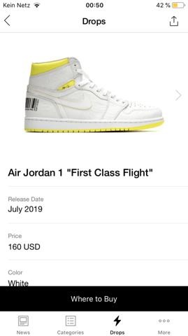 Jordan 1 first class flight limitiert?