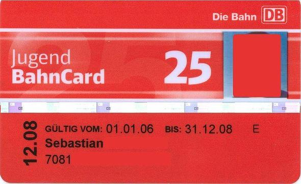 Jugen BahnCard 25 - (Bahn, Karten)