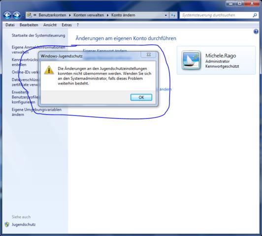 Der Fehler - (Windows, Jugendschutz)