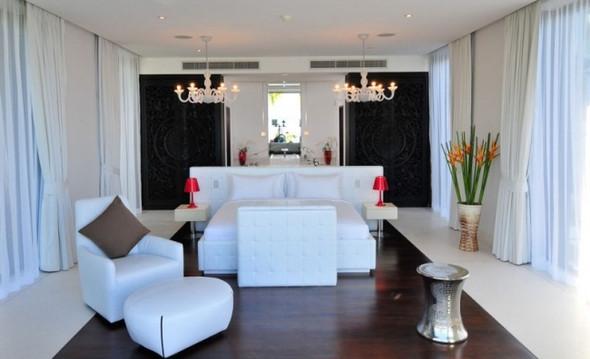 Schlafzimmer Weiß Schwarz   (Ideen, Umzug, Einrichtung)