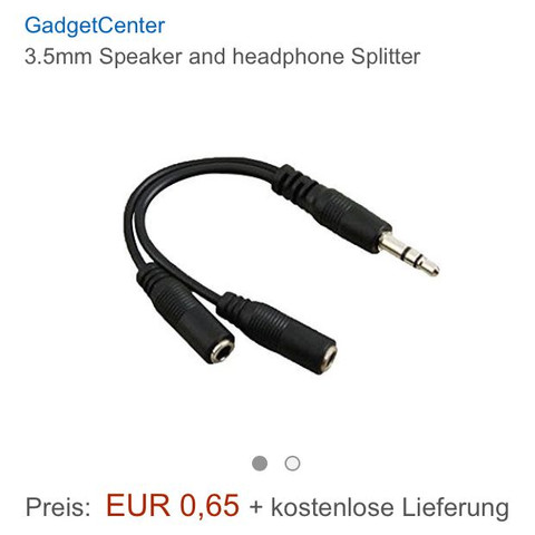 Kanel splitter - (PS4, Headset, Kabel)