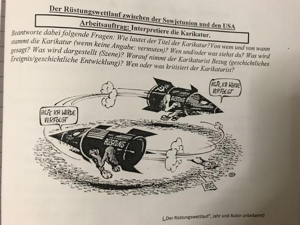 Karikatur über Den Rüstungswettlauf Interpretieren Schule