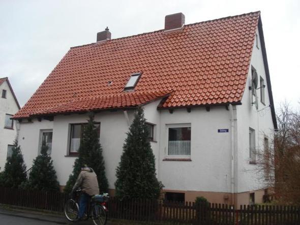 unser Haus mit Kalkfarbe - (Fassade, Kalkfarbe, Kalkanstrich)
