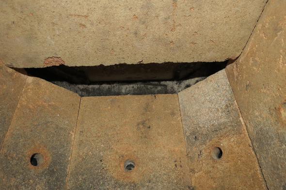 Blick von unten - (Haus, Kamin)