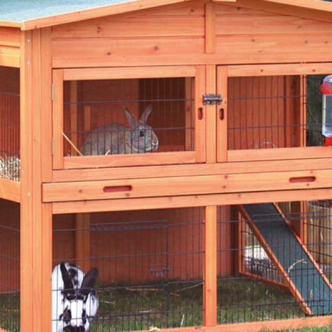 """mein Stall derzeit der leider """"gegessen"""" wird  - (Tiere, Kaninchen, Stall)"""