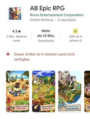 Kann Angry birds epic nicht downloaden?