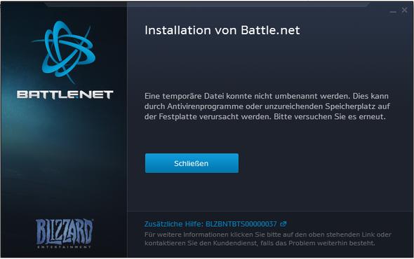 Kann Battlenet Nicht Installieren Fehler Installation