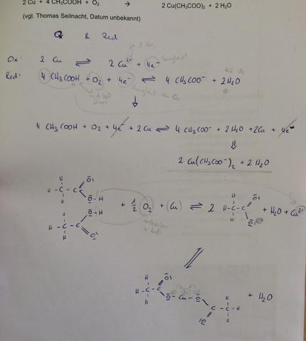 Herstellung von Grünspan (Kupferacetat) - (Chemie, Reaktion, Kupfer)