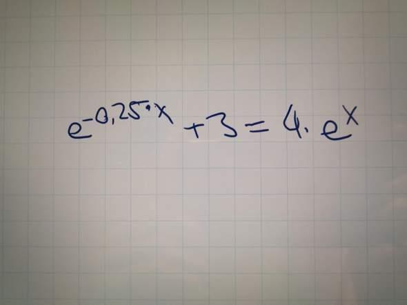 Kann das jemand auf x auflösen (ohne Taschenrechner)?