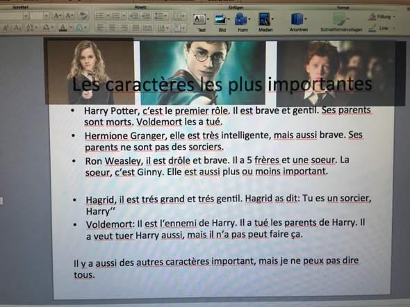 - (Schule, Französisch, Präsentation)