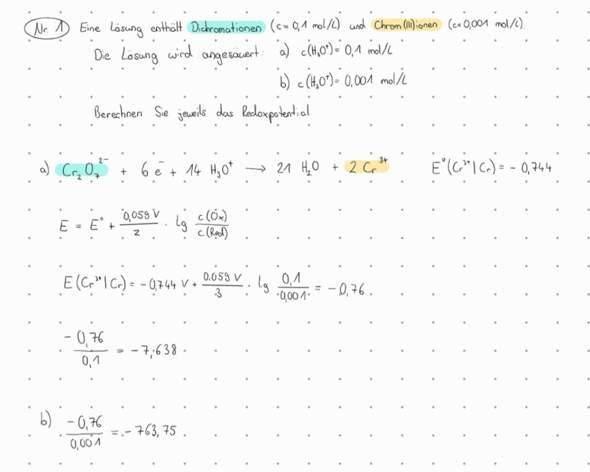 Kann das Redoxpotential so negativ werden (-763)?