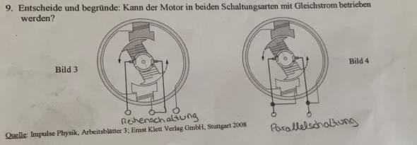 Kann der Motor in beiden Schaltungsarten mit Gleichstrom beschrieben werden?