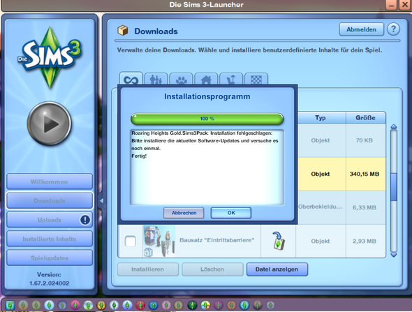 Das Problem - (PC-Games, Sims 3, Roaring Heights)