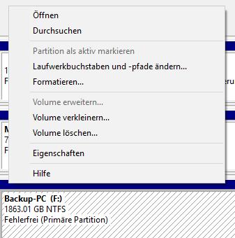 Fenster - (Festplatte, Windows 10, Partition)