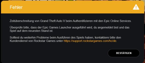 Kann GTA 5 über epic games nicht starten? (Computer, Technik, Spiele und Gaming)
