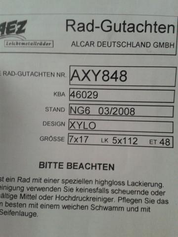 Rad-Gutachten - (Auto, Felgen)