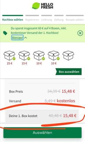 Kann ich bei Hello Fresh einfach direkt nach einer Woche (nach einer Box) wieder kündigen(60 € Gutschein)?