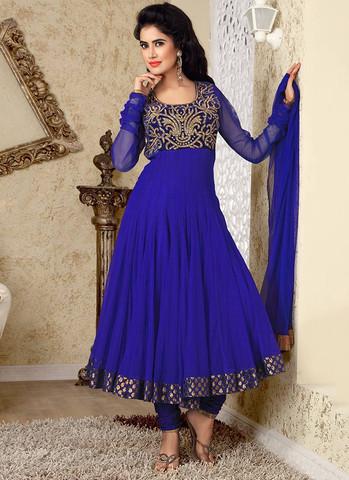 Blue Anarkarli - (Kleidung, Abitur, blau)