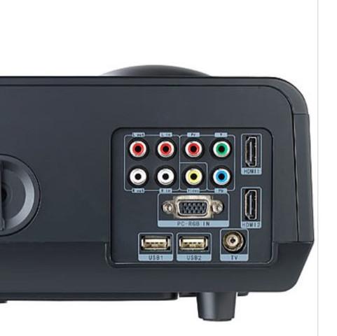 kann ich den beamer ber diese anschl sse verbinden damit der ton ber eingebaute lautsprecher. Black Bedroom Furniture Sets. Home Design Ideas