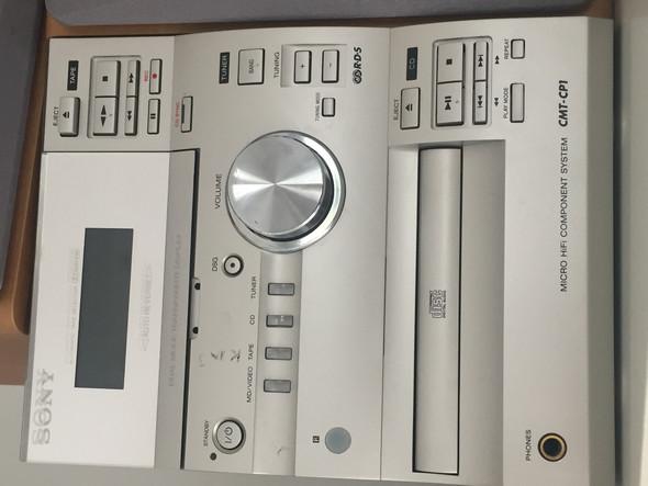 Foto der Stereoanlage (sony cmt-cp1) - (Stereoanlage, Plattenspieler)