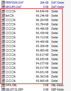 Kann ich diese seltsamen Dateien in C:\windows\system32 löschen?