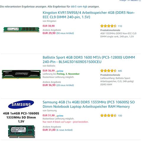 Beispiel-RAM - (Computer, Technik, Technologie)