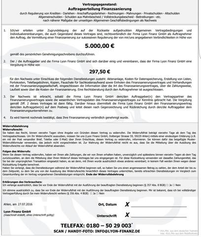 Vertrag  - (Kreditanfrage, Vertrags Unterzeichnung)