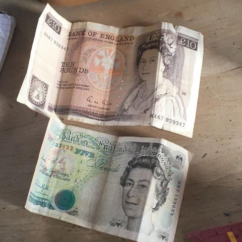 Gültige Banknoten England