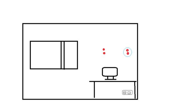 Skizze von besagter Wand - (Elektrik, Steckdose, bohren)