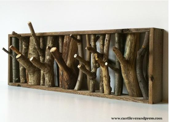 DIY Ast-Garderobe - (Hobby, bauen, Holz)