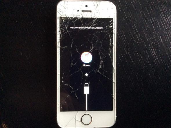 So leuchtet mein Handy jetzt auf. - (Handy, Apple, defekt)