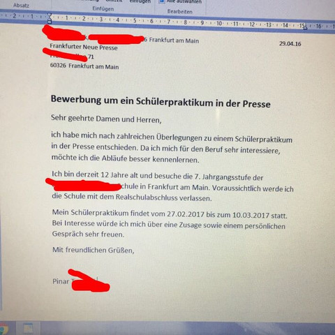 Bewerbung Abschicken | marlpoint