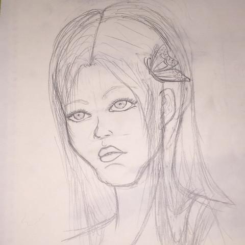 Hier hab ich einwenig rum skizziert und wollte es noch mit Aquarel fertigstellen - (Anime, online, Tipps)