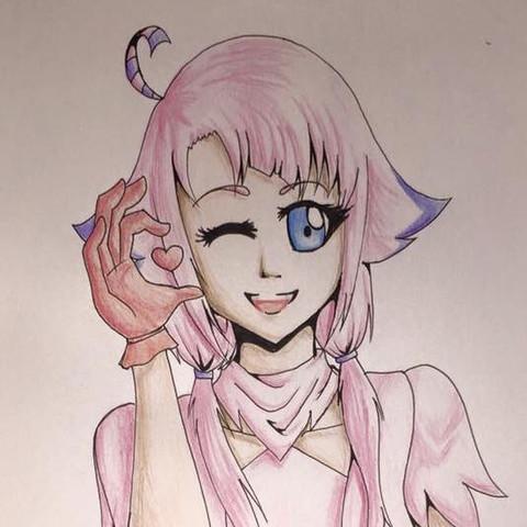 Hier etwas normaleres mit Buntstift - (Anime, online, Tipps)