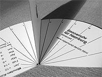 aus Papier - (sonnenuhr, horizontalsonnenuhr, selstbauen)