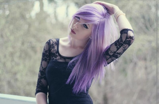 Haare lila tonen ohne blondieren