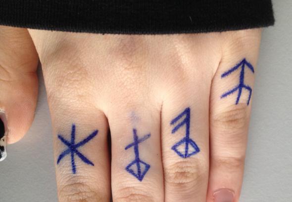 Runen aufgezeichnet - (Tattoo, Runen)